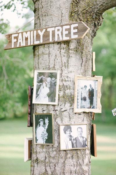 Οικογενειακό δέντρο με φωτογραφίες.