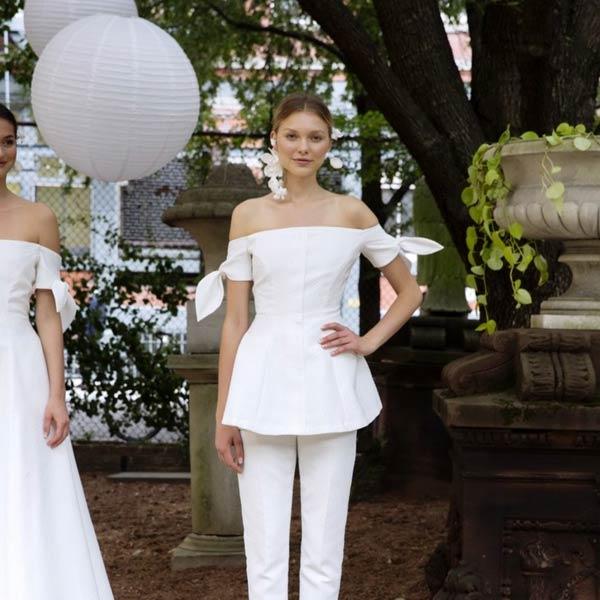 667608620a0d 8 Τέλεια looks από τη Bridal Fashion Week για πολιτικό γάμο gamosorganosi