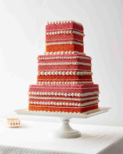 Naked ombre γαμήλια τούρτα