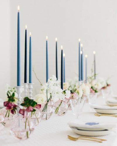 Κεριά σε αποχρώσεις του μπλε