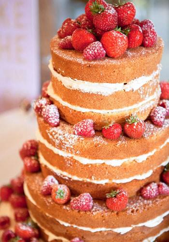 Naked γαμήλια τούρτα