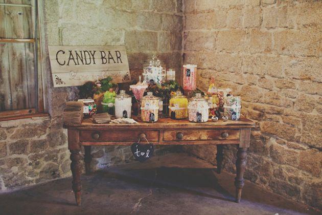 candybar για γαμο σε vintage στυλ