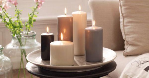 Κεριά για ρομαντική ατμόσφαιρα.