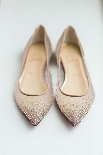 Ίσια παπούτσια γάμου.