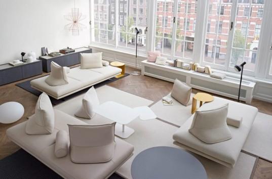Καναπέδες χωρίς πλάτη, για όσους θέλουν κάτι πιο εναλλακτικό.